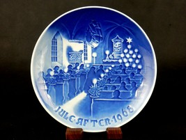 Christmas In Church ~ Bing & Grondahl Collector Plate, Jule-Aften 1968, ... - $6.81