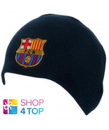 FC BARCELONA KNITTED HAT CAP BEANIE NAVY FOOTBALL SOCCER NEW - $12.66