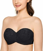 DELIMIRA Women's Strapless Bra for Large Bust Unlined Underwire Jacquard... - $60.79