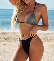 Vriety Trend Women Size S Black Sequin Halter Neck Bikini Set (US 4-6)S - $22.99