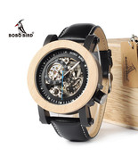 BOBO BIRD Unique Style Automatic Mechanical Wood and metal Analog Watch Men - $75.99