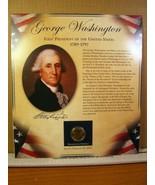 George Washinton United States Presidents Coin Postal Commemorative Society - $8.09