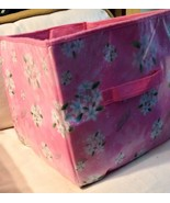 Disney Pink cherry blossom floral Collapsable storage cube with zipper bottom - $5.99