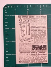 1889 Plymouth Rock Pants Co. Advertisement Boston, Mass. - $24.00