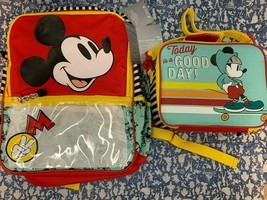 Brand New Disney Mickey Mouse School Backpack with Matching Insulated Lu... - $68.70