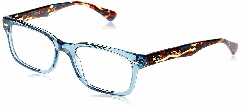 Unisex Ray Ban RX5286 8024 Rectangle Eyeglass Frame - Blue, 51mm