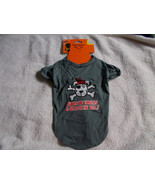 "Halloween Pet Tee Medium  ""Shiver Me Timbers & Scratch Me Belly""  Funny ... - $8.91"