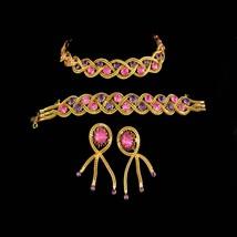 Stunning Vintage rhinestone Parure / jewels by Le Dor / original box / Tassel cl - $295.00