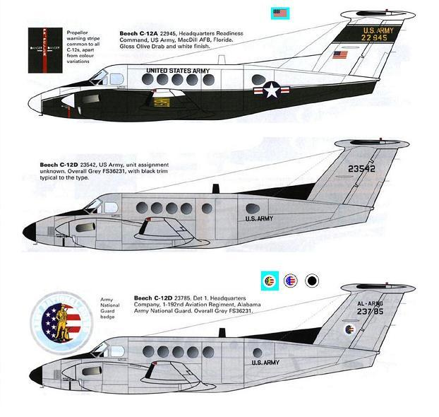 1/144 scale Resin Model Kit Beech 200 C-12 Huron US Army 3 Decal Options
