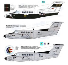 1/144 scale Resin Model Kit Beech 200 C-12 Huron US Army 3 Decal Options image 1
