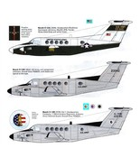 1/144 scale Resin Model Kit Beech 200 C-12 Huron US Army 3 Decal Options - $15.00
