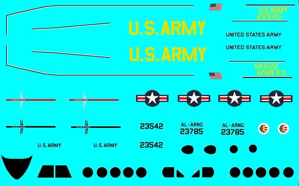 1/144 scale Resin Model Kit Beech 200 C-12 Huron US Army 3 Decal Options image 3