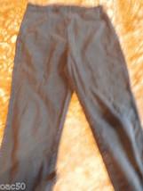 Black Pull On Denim Skinny  Pants - $10.00
