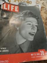 LIFE MAGAZINE MAY 23 1949 ACTRESS SARAH CHURCHILL - $25.00