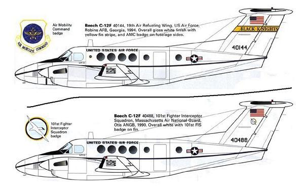 1/144 scale Resin Model Kit Beech 200 C-12 Huron US Air Force 2 Decal Options
