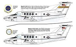 1/144 scale Resin Model Kit Beech 200 C-12 Huron US Air Force 2 Decal Options image 1