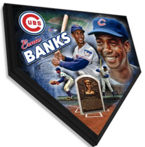 "Ernie Banks ""Mr. Cub"" Chicago Cubs 11.5"" x 11.5"" Home Plate Plaque  - $40.95"