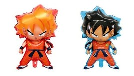 Dragon Ball Party Balloon Shape Birthday Mylar Decoation Goku Sayain 2PCS - $10.87