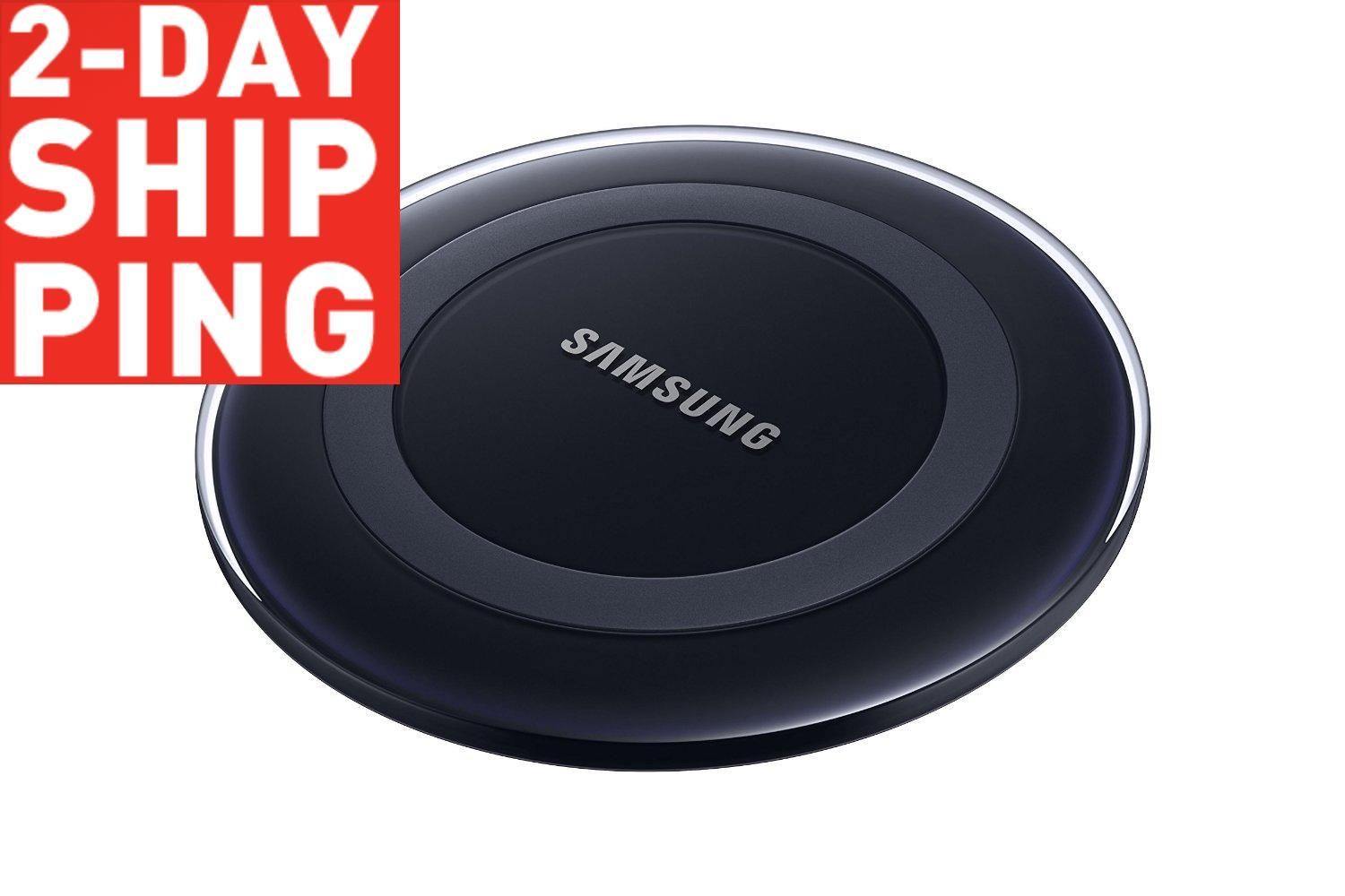Samsung Wireless Charging Pad w/ 2A Wall Charger Retail Packaging - Black