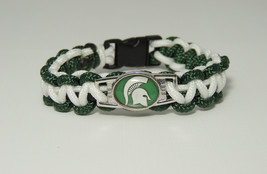 "MICHIGAN STATE ""SPARTANS"" paracord bracelet    ... - $16.50 - $17.50"