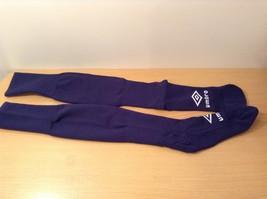 New Umbro Soccer Team Socks Navy Blue White Logo, Adult size