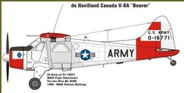 1/144 scale Resin Model Kit Dehavilland Beaver US Army Red and White - $15.00