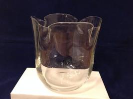Vintage Orrefors Clear Glass Bell Shape Hand Formed Art Vase limited edition image 5