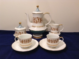 Royal Crown Roman Festival Full Espresso Set for Two Limited Edition