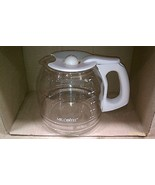 5NN84 MR. COFFEE 12 CUP COFFEEPOT, WHITE HANDLE, VERY GOOD CONDITION - $19.66