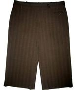 BCBG Max Azria Daria Bermuda Shorts sz 6 Mahogany brown pinstripe NEW $158  - $18.00