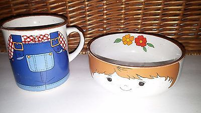 Childrens Dinnerware Stacking Dishes Set Farm Boy Cup and Bowl Interpur Vintage & Childrens Dinnerware Stacking Dishes Set and 50 similar items