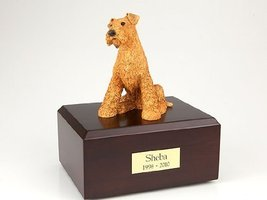 Pet Cremation Urn - Airedale Terrier, Sitting Figurine On Traditional, S... - $155.00
