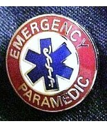 Emergency Paramedic Collar Device Pin Silver Re... - $9.97