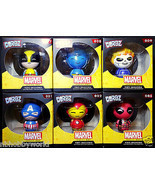 FUNKO Dorbz Marvel Series One Set of 6 Cpt America Ironman Deadpool Wolv... - $66.99
