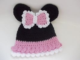 BABY GIRL MINNIE MOUSE PHOTO PROP HAT, PINK - $12.00