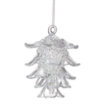 Department 56 Winter White Clear Pinecone Ornam... - $9.45