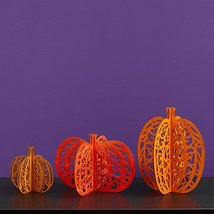 Enesco Halloween Flourish Pumpkins Centerpiece Centrpiece, 10-Inch, Set of 3