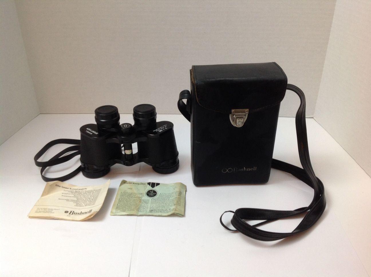 Vintage 1970s BUSHNELL Sportview Binoculars 7 x 35 Fully Coated Optics w/ Case