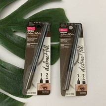 Maybelline Brow Define & Fill 255 Soft Brown Pencil New Set of 2 Eyestudio - $14.84