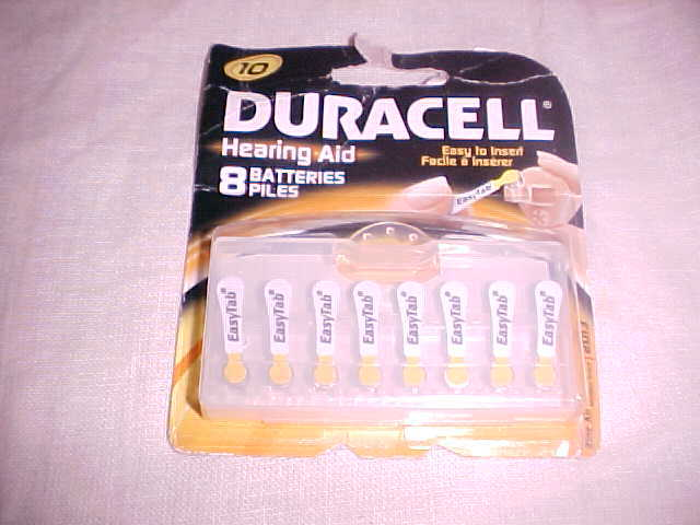 Primary image for DURACELL HEARING AID BATTERIES (8) SIZE 10  - BRAND NEW