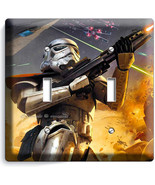 STAR WARS STORMTROOPER DOUBLE LIGHT SWITCH PLAT... - $11.99