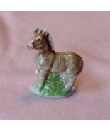 Vintage WADE England Whimsies Zebra Tan With Green Perfect - $4.46