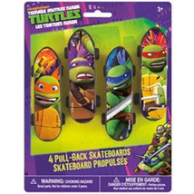 Teenage Mutant Ninja Turtles Plastic Skateboards 4 pk Favors Party TMNT - $4.08
