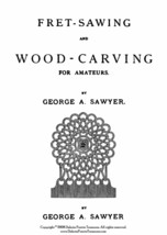 1875 Victorian Fret Wood Work Book Woodwork Scroll Saw Rustic Folk Art DIY Craft - $13.69