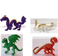 Doll House Shoppe 4 Toy Dragon Set different colors Micro-mini Miniature - $4.75