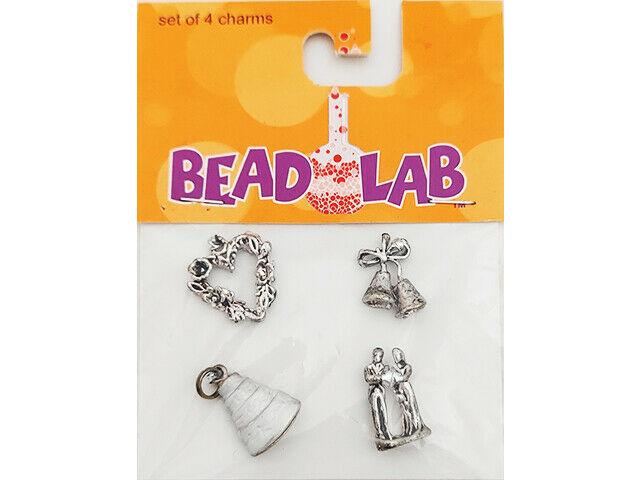 Bead Lab Wedding Charms, 4 Pack #48557