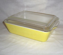 Vintage Pyrex #503 Yellow Primary Colors Refrigerator Dish - $27.95