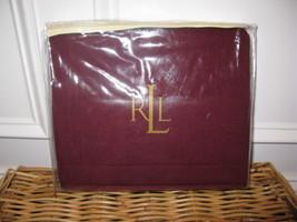 1 Ralph Lauren POET'S SOCIETY Burgundy Wool Standard Sham $150 - $61.70