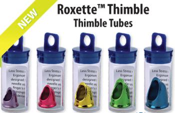 Roxette Medium Yellow Thimble sewing cross stitch Colonial Needle
