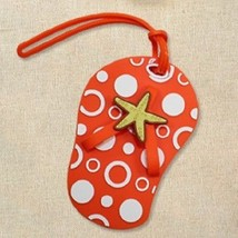 5 Orange Beach Flip Flop Luggage Tags Favor Wedding Bridal Shower Gift S... - $17.80